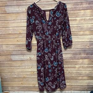 4/$25 Everly maroon and floral dress